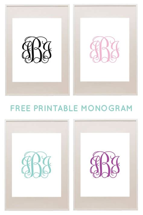 Free Printable Monogram Templates best 25 monogram letters font ideas on