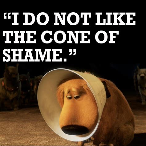 Cone Of Shame Meme - disney uk on twitter quot dug and his cone of shame up http