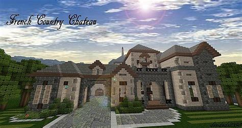 french country chateau french country chateau tac pop reel minecraft project