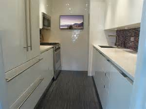 Modern Galley Kitchen Ny Modern Small Galley Kitchens Home Decor And Interior