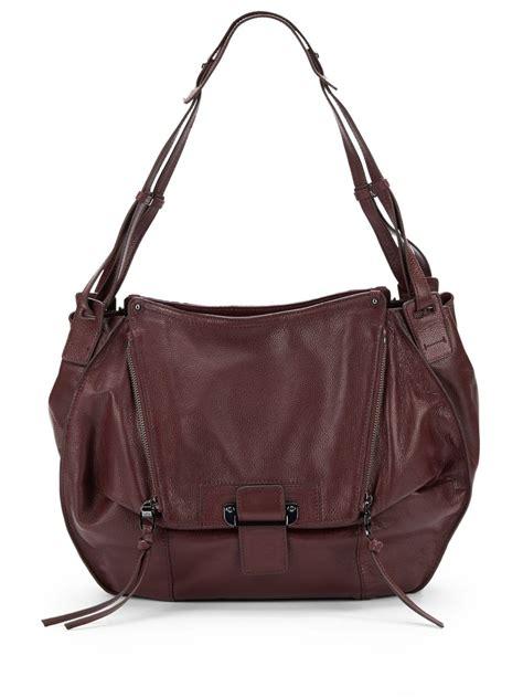 Kooba Devin Shoulder Bag by Kooba Leather Shoulder Bag In Purple Wineberry Lyst