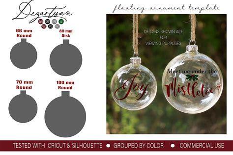 Floating Ornament Template Inserts Svg Dxf And Psd Format Templates For Ornaments