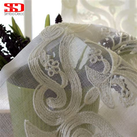 voile vorhang simba deco european damask white sheer curtains for living