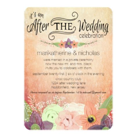 Wedding Announcements After The Wedding by After Wedding Invitations Announcements Zazzle