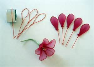 Making Flowers by Stocking Net Flowers Zeeshcreation