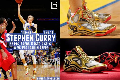 steph curry gold shoes stephen curry goes for 38 7 8 in his gold armour
