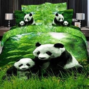 Egyptian Cotton Duvet Set Cute Panda Bedding