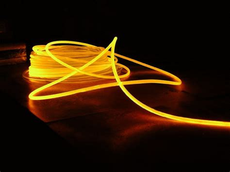 fiber optic lighting cable 3mm solid core glow fiber optic lighting cable sold