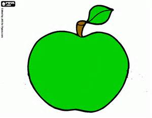 green apple coloring page printable green apple