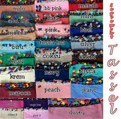 Bergo Tassel Rainbowkhimar Tasselinstan Tassel segiempat tassel 16 juni17 sentral grosir jilbab kerudung i supplier jilbab i retail