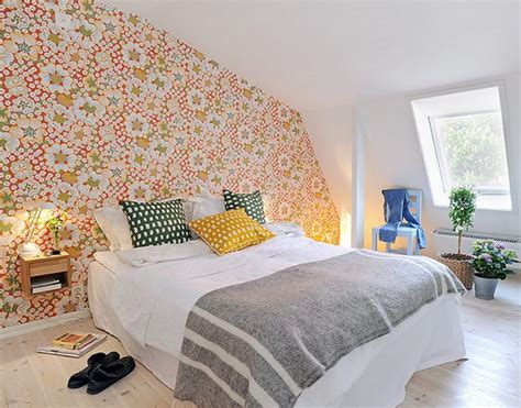 swedish bedroom focusing on one wall in bedroom swedish idea of using