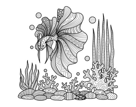 zentangle coloring book free coloring page coloring zentangle fish on corals