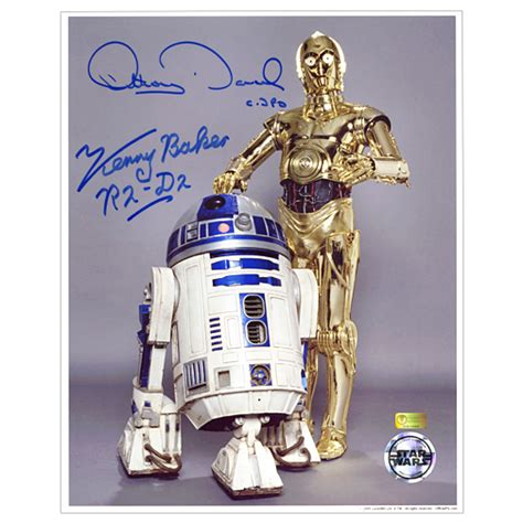 anthony daniels signature kenny baker and anthony daniels autographed star wars 8x10