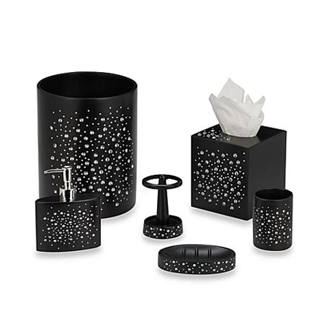Black Bling Bathroom Accessories Black Bath Ensemble Bed Bath Beyond