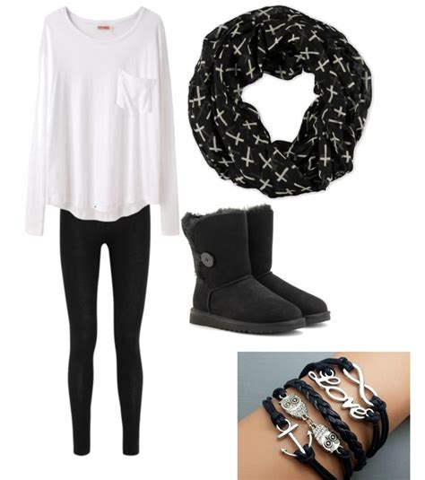 winter pattern leggings outfits cute outfits for teens ugg boots black ugg boots match