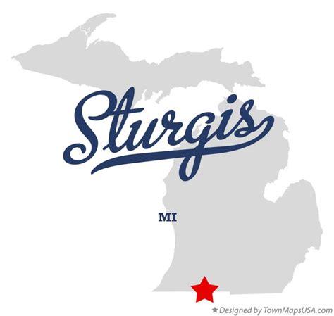 sturgis usa map map of sturgis mi michigan
