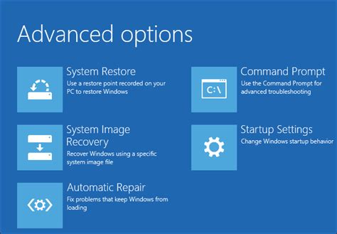 how to use the advanced startup options to fix your