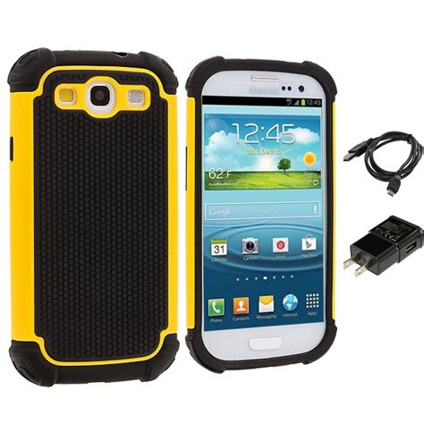 for samsung galaxy s3 hybrid armor rugged shockproof charger ebay