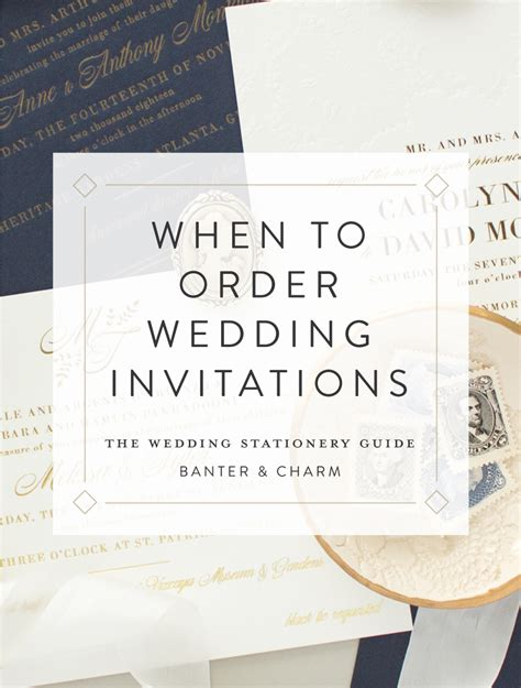 wedding invitation order when to order wedding invitations the wedding stationery guide banter and charm