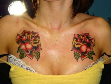 chest rose tattoos flowers tattoos design chest tattoos