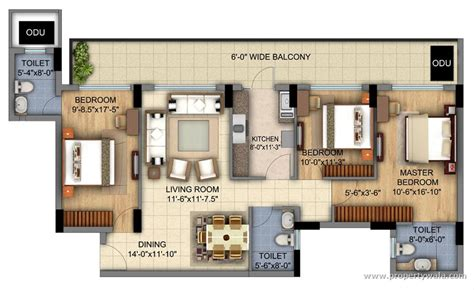 floor pln dlf sky court sector 86 gurgaon residential project