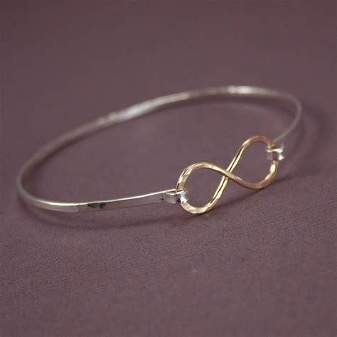 infinity bracelets two tone infinity bracelet bangle 187 gosia meyer jewelry