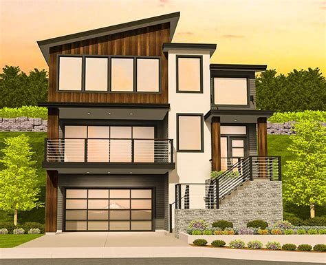 traditional modern house plans for sloped lots modern house design design for modern house modern house plan for a sloping lot 85184ms