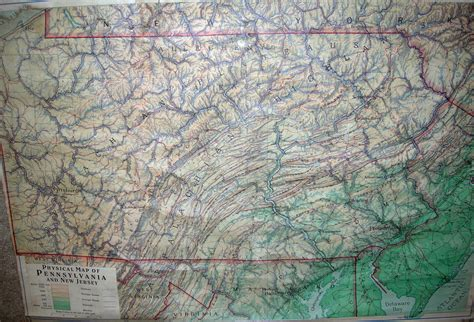 physical map of pennsylvania 1940 s pennsylvania maps