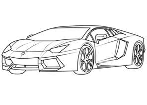 Lamborghini Aventador Coloring Pages Lamborghini Aventador Supercar Coloring Page Free