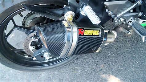 Knalpot I One Kawasaki 250 Mono Carbon Stainless kawasaki 250 rr mono knalpot racing akrapovic oval carbon motoralap exhaust