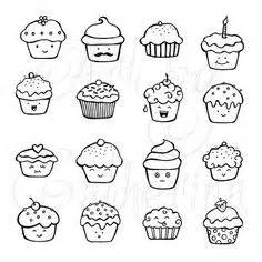 prime vector clipart kawaii cup cakes mignons petits