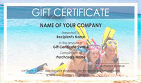 travel gift certificate template free travel gift certificate templates easy to use gift
