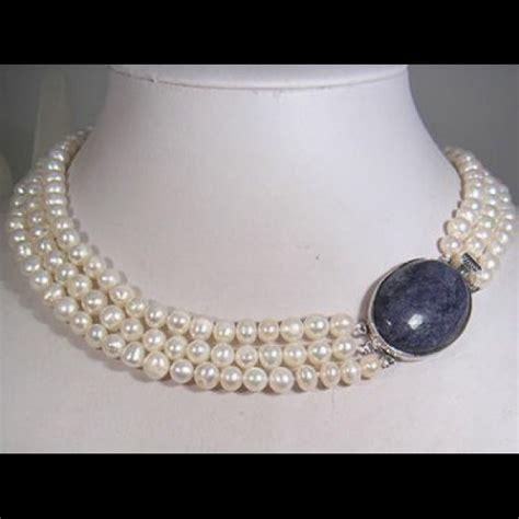 Three String Choker 55 jewelry three string pearl necklace beautiful