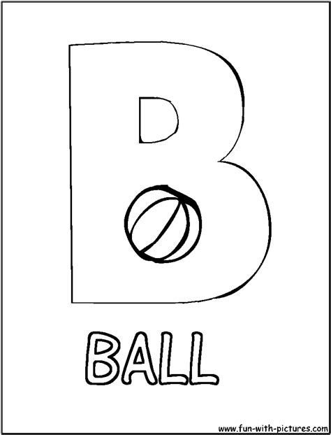 free b is for ball coloring pages