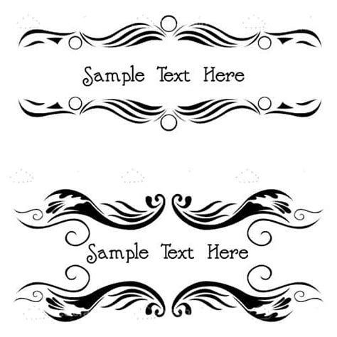black pattern header floral pattern headers with sle text vectorjunky