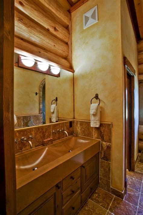 log cabin with bathroom and kitchen 17 best images about log home bathrooms on pinterest
