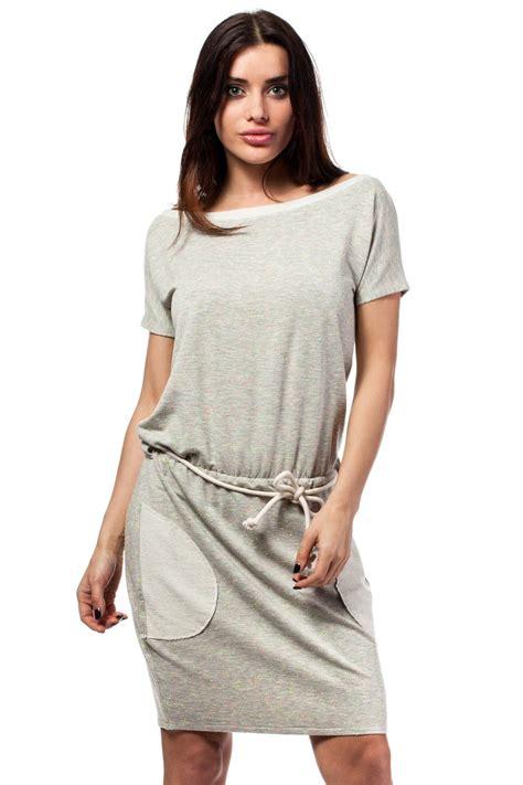grey flecked shirt dress with braided waist belt