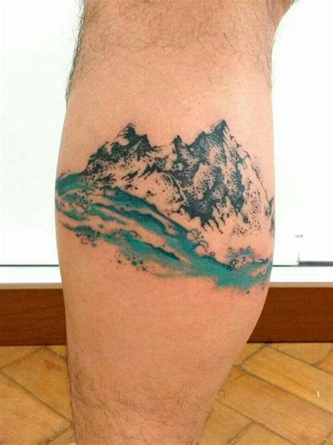 watercolor mountain tattoo designs ideas and meaning