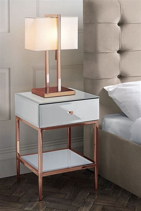 white and glass side table stiletto toughened white glass and gold side table