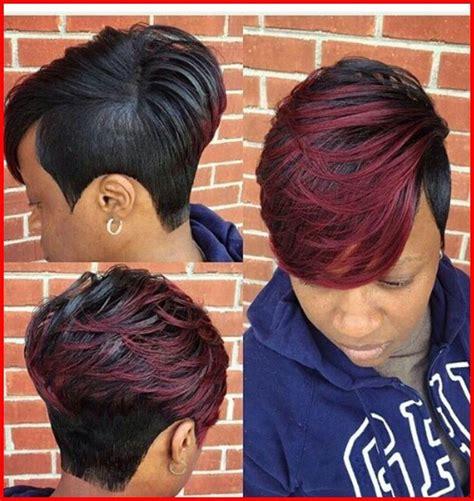 black short  piece hairstyles