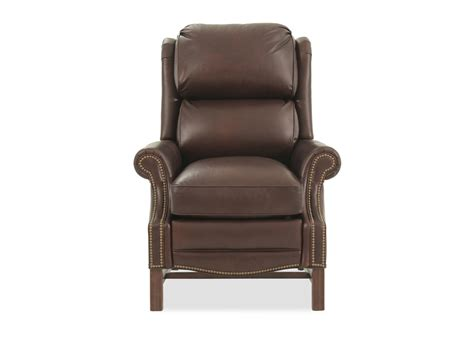 Bradington Leather Recliners by Bradington Alta Leather Brown High Leg Reclining