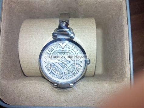 Silber Uhr Polieren by Fossil Damenuhr Silber Glitzersteine Matt Und Poliert Wie