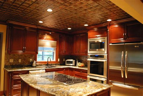 tin ceiling tile installed traditional kitchen other refined kitchen ceiling traditional kitchen other