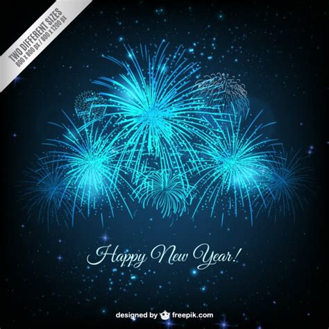 blue new year bright blue new year fireworks background vector free