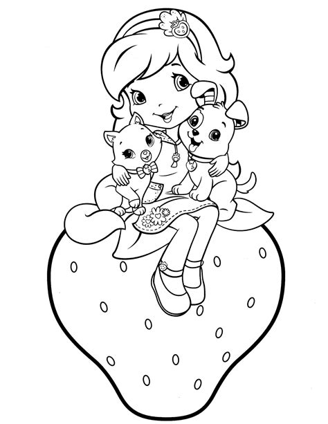 strawberry shortcake 61 coloringcolor com