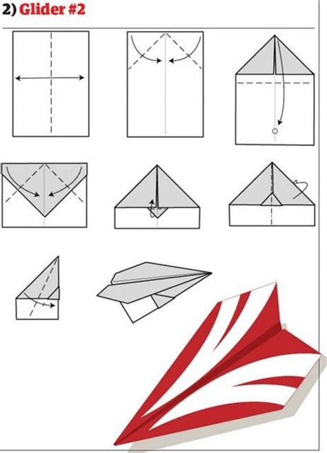 Make A Paper Glider - how to make paper airplanes 13 pics curious
