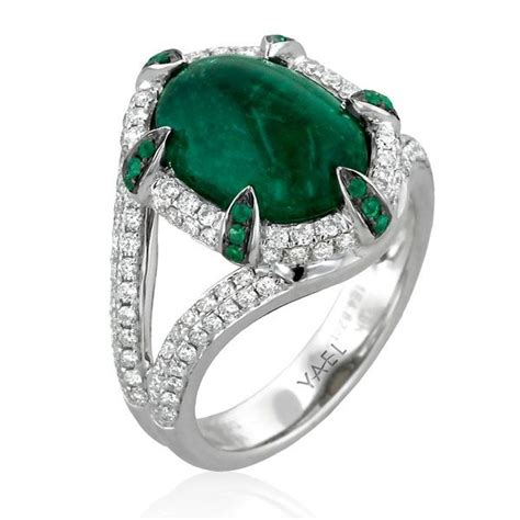 yael designs lore emerald ring cool jewelry