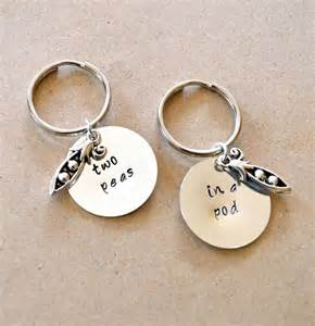 2 peas in a pod keychain two peas in a pod keychain set best friend s keychain gift sted customized gifts