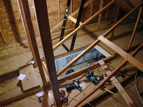 Garage Attic Ladders by Panofish 187 Installing A Folding Attic Ladder In The Garage