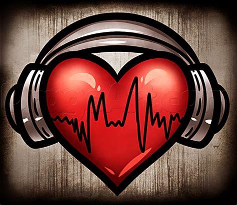 heartbeat headphones tattoo how to draw heart headphones http www dragoart com tuts